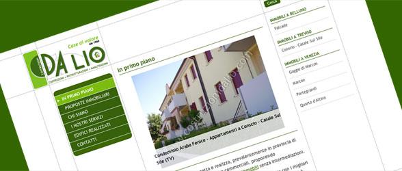 Screenshot sito Da Lio Costruzioni