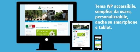 Tema WordPress accessibile, semplice da usare, personalizzabile, anche su smartphone e tablet. Gratuito per Pubbliche Amministrazioni e Enti no-profit
